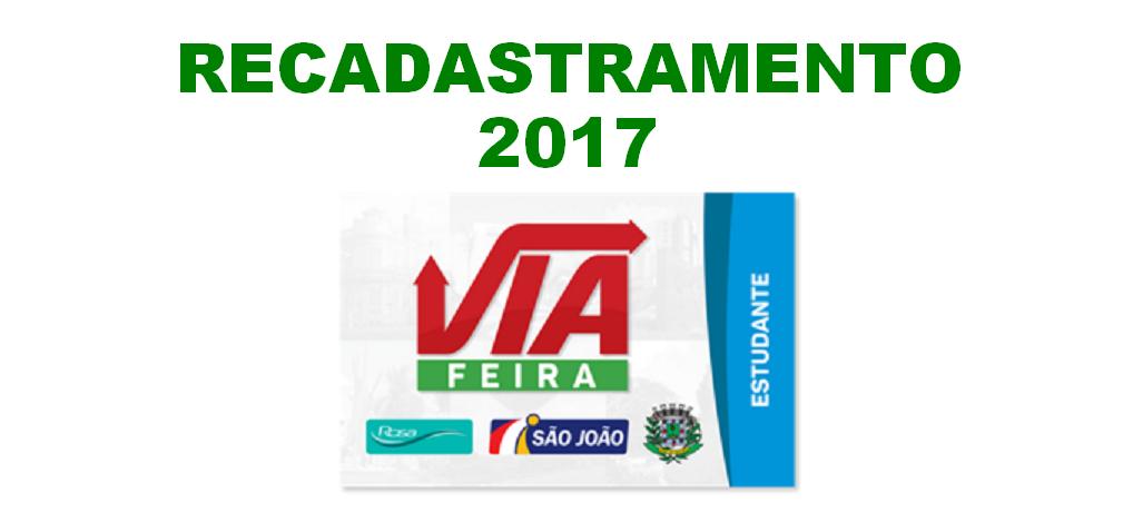 [Feira IX] PRAZO PRORROGADO PARA RECADASTRAMENTO VIAFEIRA 2017