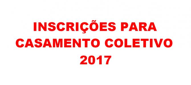Inscrições para Casamento Coletivo 2017 encerram-se hoje!