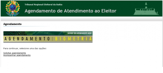 [Feira IX] Agendar Biometria – Recadastramento Título de Eleitor – Feira de Santana