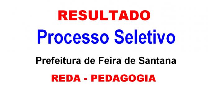 Prefeitura de Feira publica Resultado REDA Professor